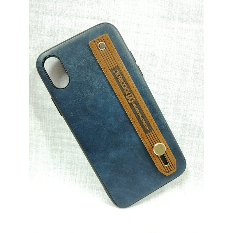 promo code bad89 bba4c Iphone X/Xs Hand Held Strap, Belt Grip Case, PU Leather Back Phone Cover